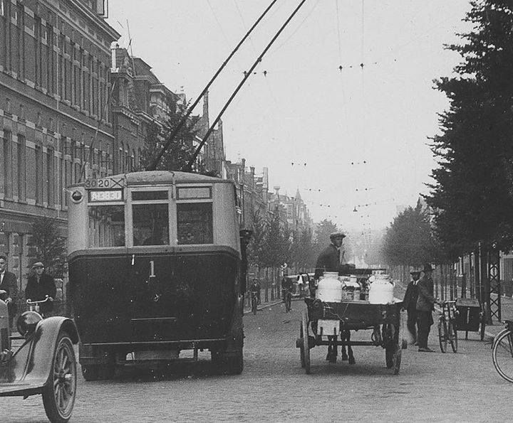 De Kraneweg in 1927 t.h.v. de Melkweg - Foto's SERC