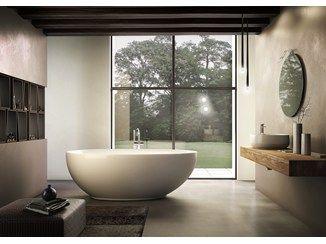 vasca da bagno centro stanza ovale in acrilico desire jacuzzi europe