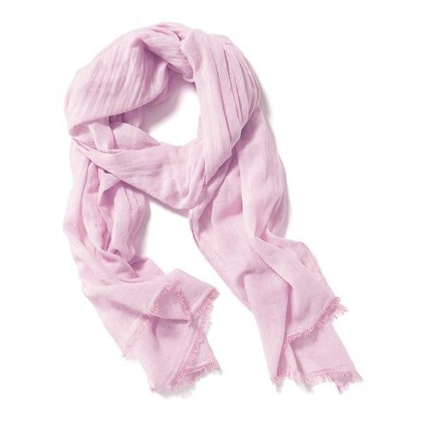 Old Navy Solid Linear Gauze Scarf ($10) ❤ liked on Polyvore featuring accessories, scarves, ashen lilac, old navy, lightweight scarves, old navy scarves y gauze scarves