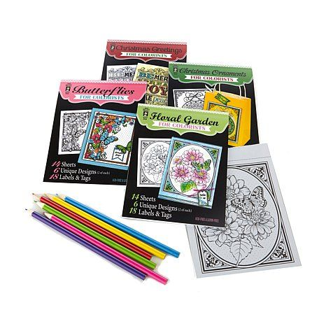 Hot Off The Press Everyday And Holiday Coloring Books Pencils