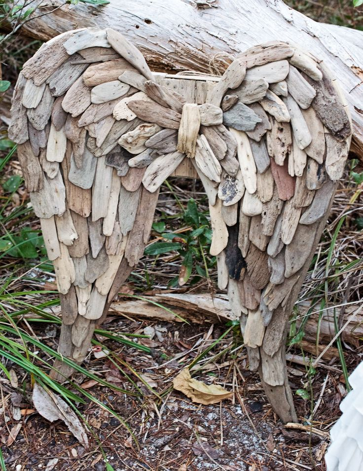 25 best ideas about angel wings on pinterest angel for Driftwood sculpture ideas