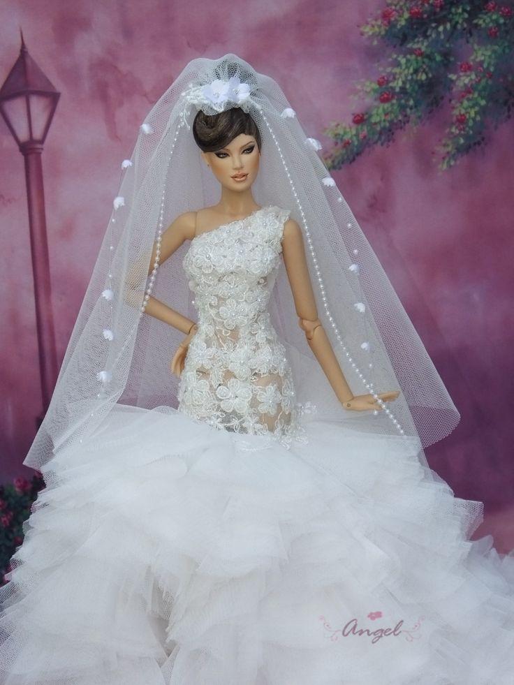 367 best Barbie Wedding Gowns images on Pinterest | Barbie doll ...