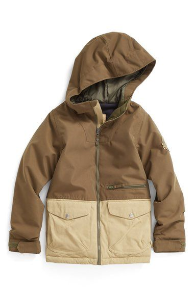 Burton Ace Hooded Waterproof Jacket (Big Boys) available at #Nordstrom