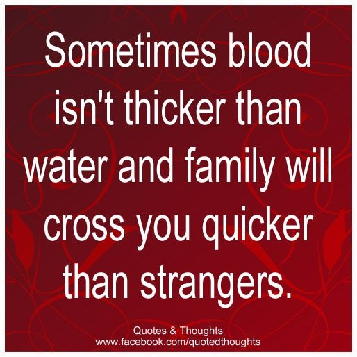 Family Isn't Always Blood Quotes