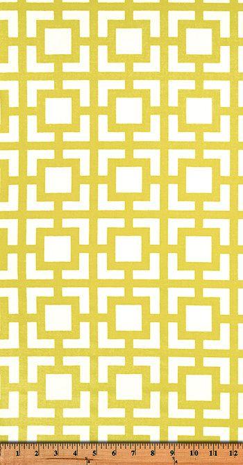 Premier Prints Geometric GiGo in Saffron by EverydayChicFabrics
