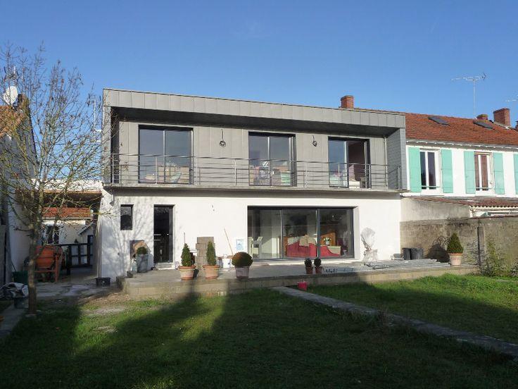 Sur l vation ossature bois la rochelle toit pinterest - Prix surelevation maison ...