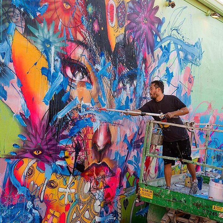 David Choe : I used to paint houses. photo: Martha Cooper - New Mural