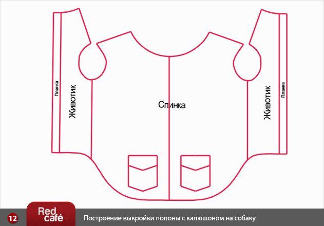 RedCafe | Построение выкройки попоны с капюшоном на собаку