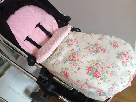 Footmuff handmade with Cath Kidston fabric & cuddly lining. Universal size to fit all buggies and strollers.