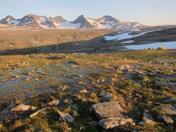 Parte massif seen from Luohttolahko plateau #trekking #sarek #sweden