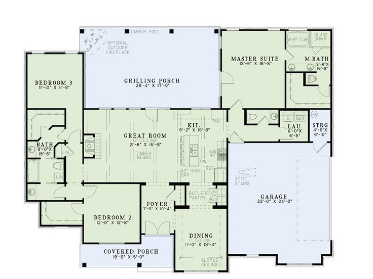 House Plan 17 2400 I Love The Two Bedrooms With Jack