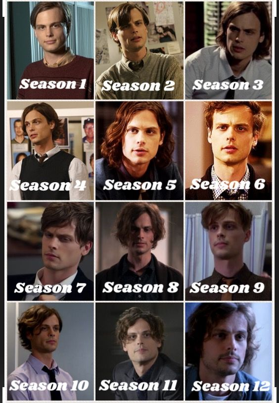 Spencer Reid throughout the seasons