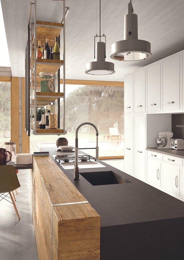 Progetti Di Cucine Moderne.Legno Di Recupero Dal Gusto Industrial E Country Marchi