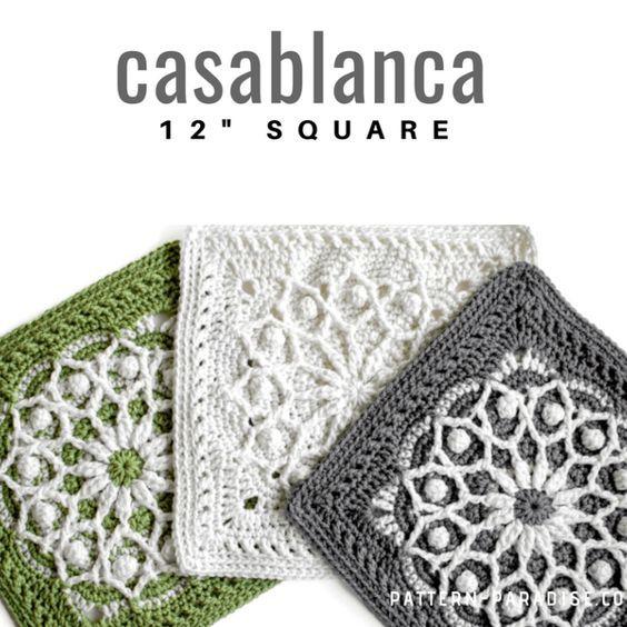 Free Crochet Pattern: Casablanca Crochet Square | Crochet ...