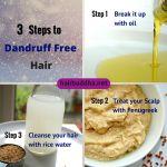 3 steps to dandruff free hair