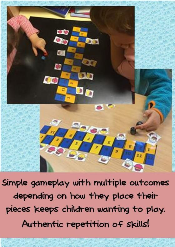 Addition Patterns and Probability are explored in this game that my kids want to play again and again.