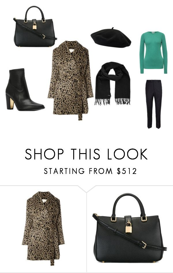 """Леопардовое пальто"" by ehlya-petrovich on Polyvore featuring мода, MICHAEL Michael Kors и Dolce&Gabbana"