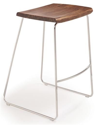 Paris Barstool with high end polished steel frame without back by Greenington Bamboo Use Paris Barstool as upscale home barstools restaurant barstools