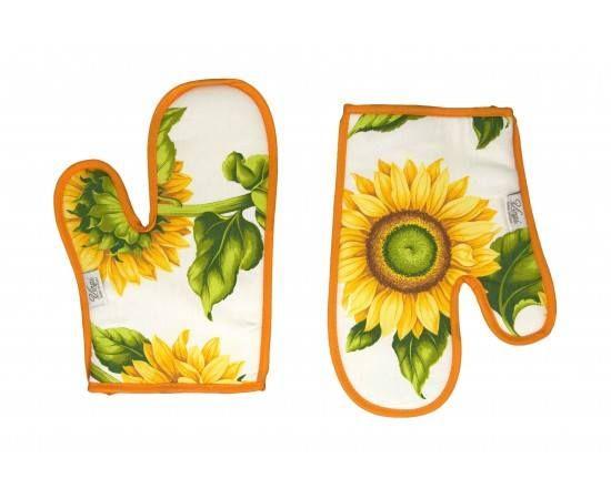 Decor Floarea soarelui... Va asteptam cu sorturi,manusi si servete bucatarie... http://www.casa-alessia.ro/bucatarie/manusi-servete-bucatarie