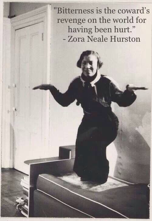 Prentiss Taylor's 1935 photo of Zora Neale Hurston performing the crow dance.