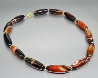 Necklace Carnelian with 14K gold plated elements and clasp - gift idea - holiday season by gemorydesign. Explore more products on http://gemorydesign.etsy.com