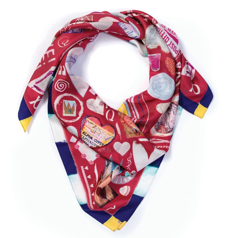 the perfect valentines day gift of rich pattern beautiful artistic luxury silk scarf from alpha gypsys valentine day collection