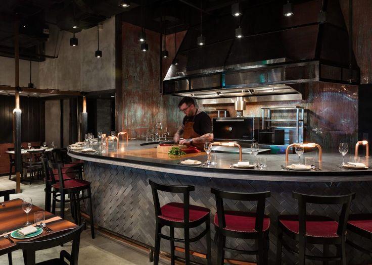 Burnt And Smoked Materials Feature In Joyce Wangu0027s Interior For Rhoda  Restaurant