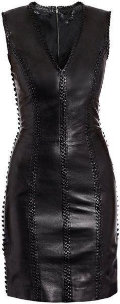 ALexander MCQUEEN Leather Dress dressmesweetiedarling