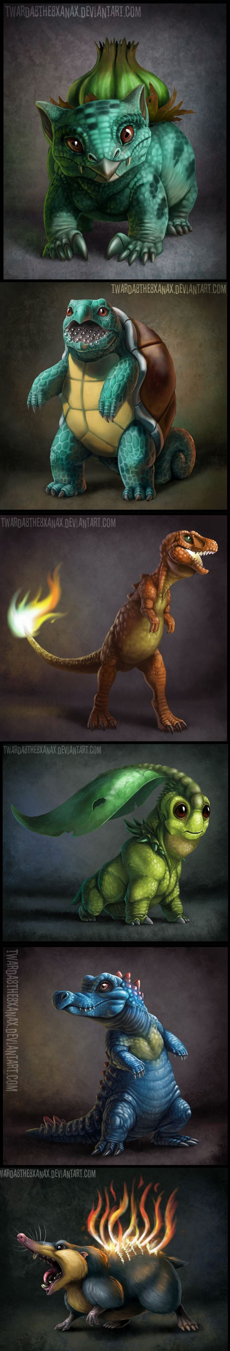 Realistic Pokemon - these actually look cool. A lot of the ones I have seen just look plain creepy.