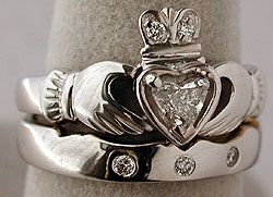 Irish wedding ring. ~www.wizebrides.com~, contact us at wizebrides@gmail.com for information, advertising and more.
