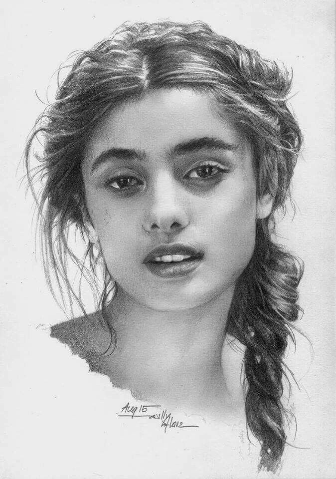 Portrait Drawing By Pencil