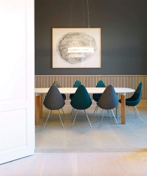 Unique flooring complements the stunning new #GrandCuisine showroom #Dinesen in Copenhagen