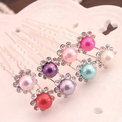 perla nuziale dei perni di capelli di cristallo del fiore di capelli della damigella d'onore