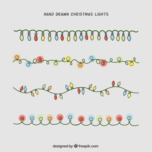 Von Hand gezeichnete Weihnachtslichtsammlung freier Vektor – #FREIER #gezeichnete #hand #vektör #von #Weihnachtslichtsammlung