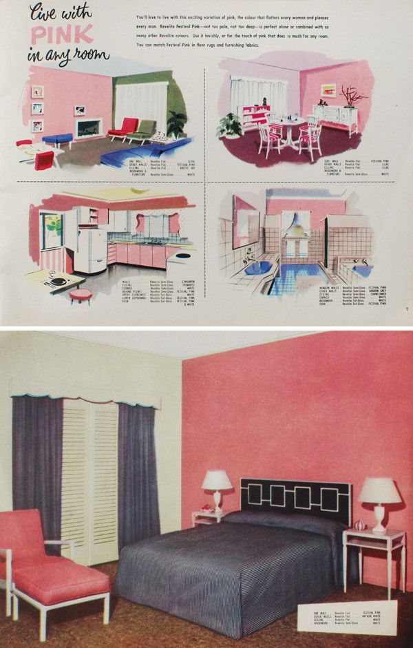 Scouted: Vintage 'Live with Colour' Taubmanns book, circa 1950s, via We-Are-Scout.com.