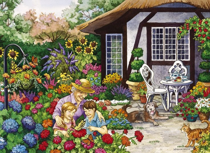 Gibsons Granny's Garden Jigsaw Puzzle (500 Extra Large