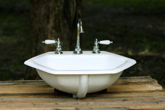 1964 Kohler Octagon Bath Sink Porcelain Over Cast By