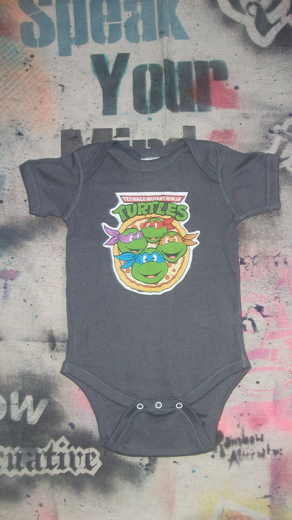 Teenage Mutant Ninja Turtles baby onesie by rainbowalternative