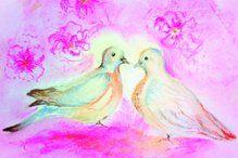 ansichtkaart 012 -duifjes- brechtje duijzer