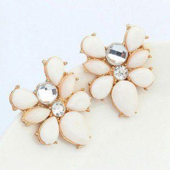Un Juego de collar de la forma fresca flor del Rhinestone y los pendientes para las mujeres | igogo Mobile - La tienda en online de los gadgets y la electrónica