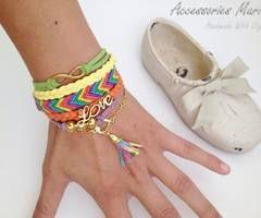 Brățări friendship | via Facebook  #accessoriesmaria #bracelets #jewelry #accessories  #jewels #pretty #colorful #gold #love #friendship