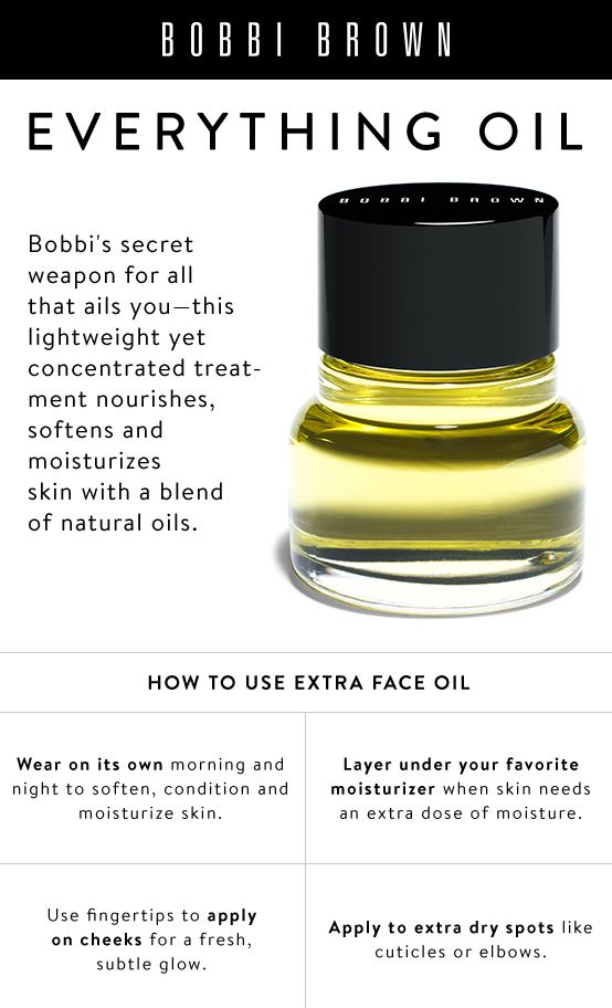 bobbi brown extra face oil how to use