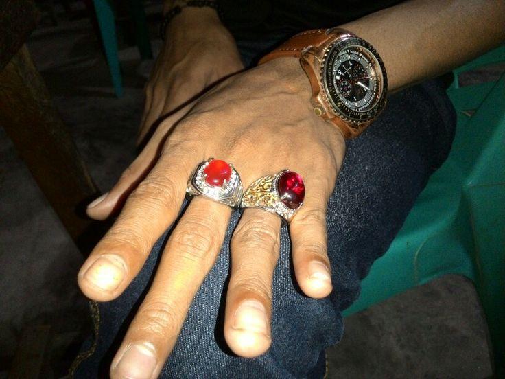 Batu Akik merah siam & raflesia