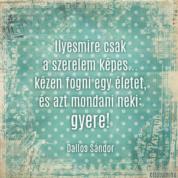 Dallos Sándor idézete a szerelemről.