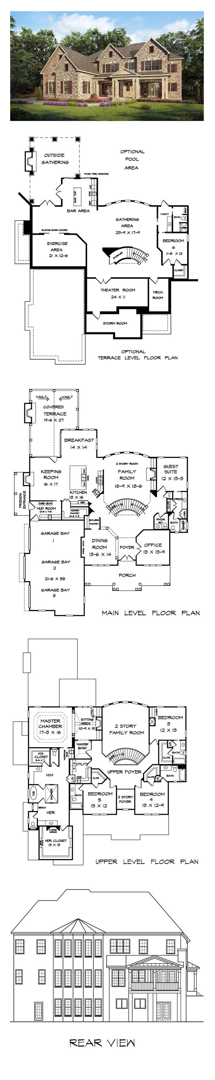 New House Plan 58256 | Total Living Area: 4819 Sq. Ft., 5