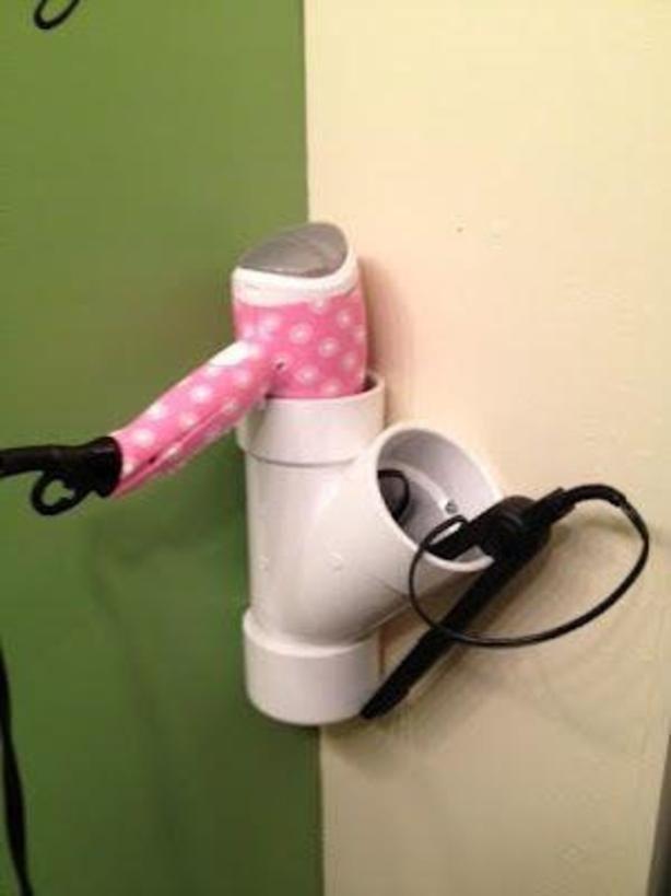 Een 'oude' pijp handig voor in de badkamer om je spullen in op te bergen/hange
