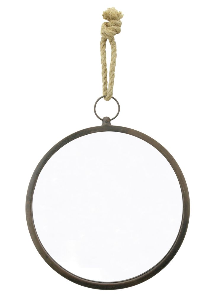 Latitudes Round Nautical Wall Mirror