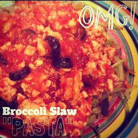 "Alexa Eats Clean: RECIPE: Broccoli Slaw ""Pasta"""