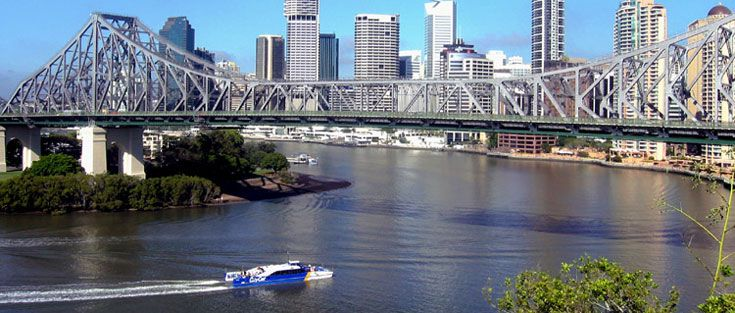 Brisbane - I was able to see the iconic Story Bridge from my room at the Ridge Motel, home for 7 months.