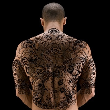 Tattooed back a little too much going on for me but for How much for a tattoo